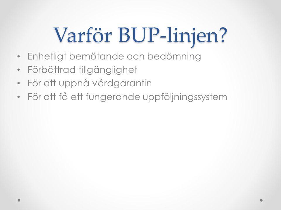Varför BUP-linjen Enhetligt bemötande och bedömning