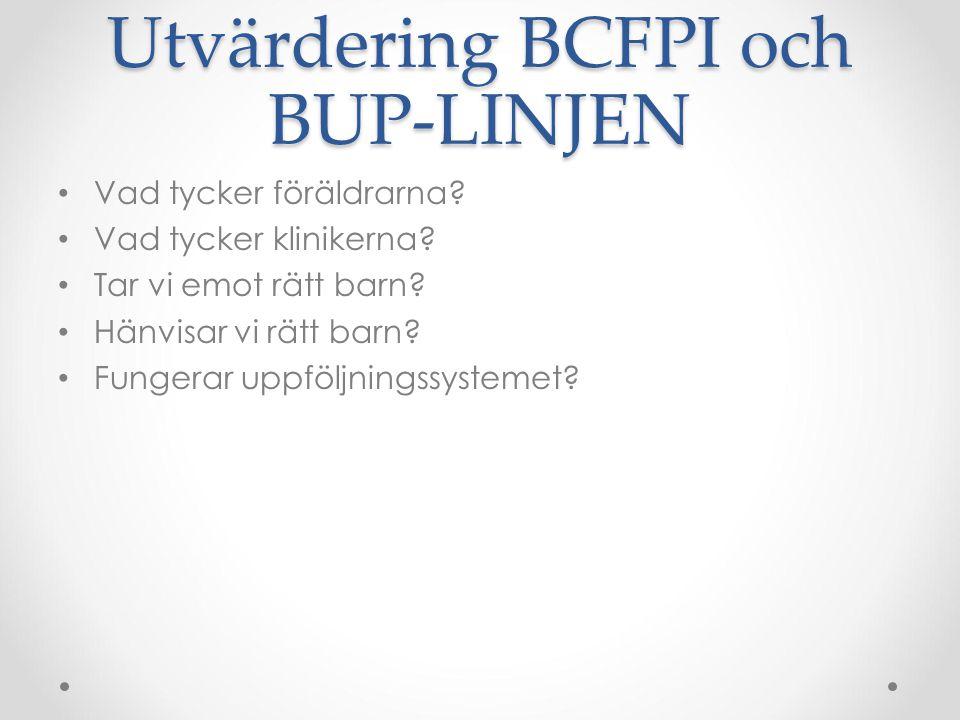 Utvärdering BCFPI och BUP-LINJEN