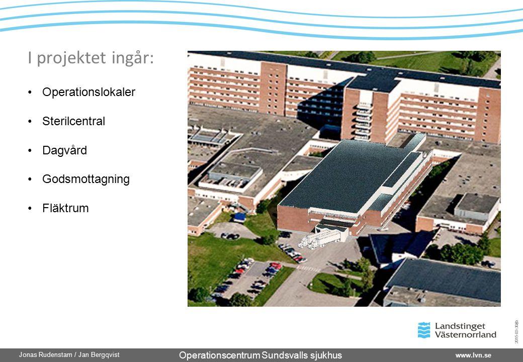 I projektet ingår: Operationslokaler Sterilcentral Dagvård