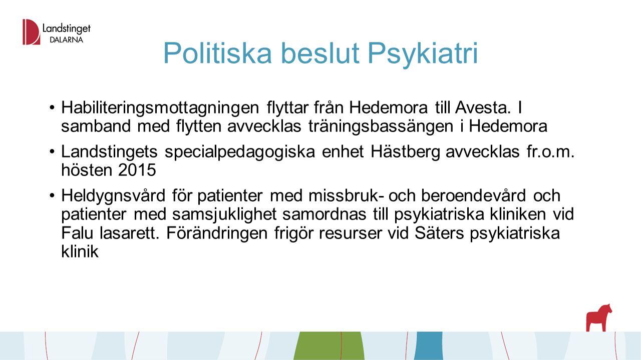 Politiska beslut Psykiatri