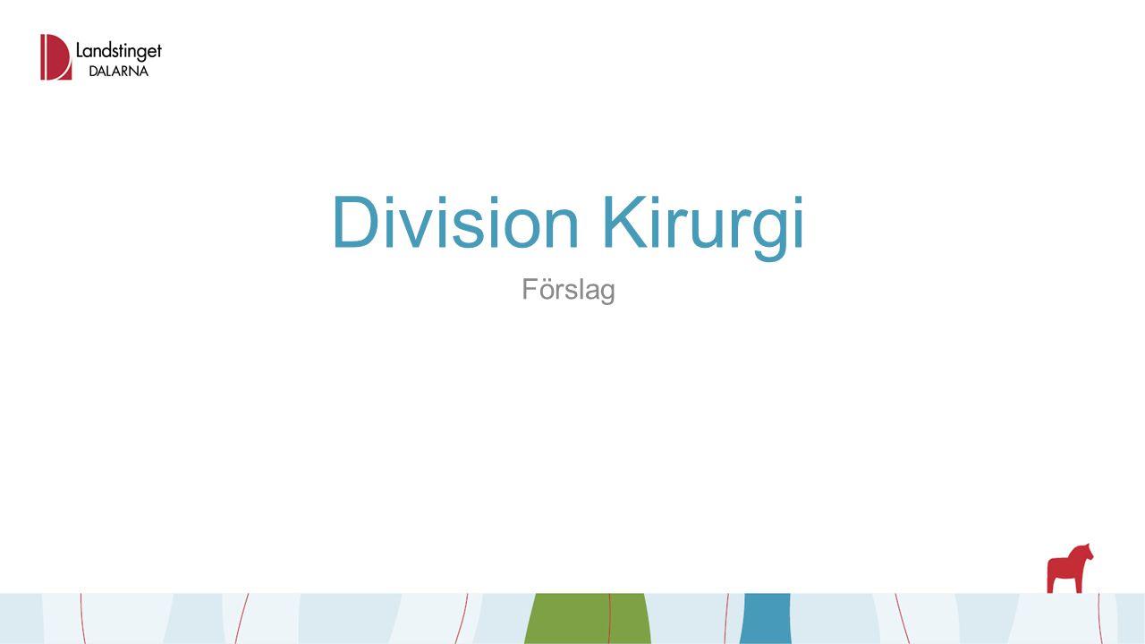 Division Kirurgi Förslag