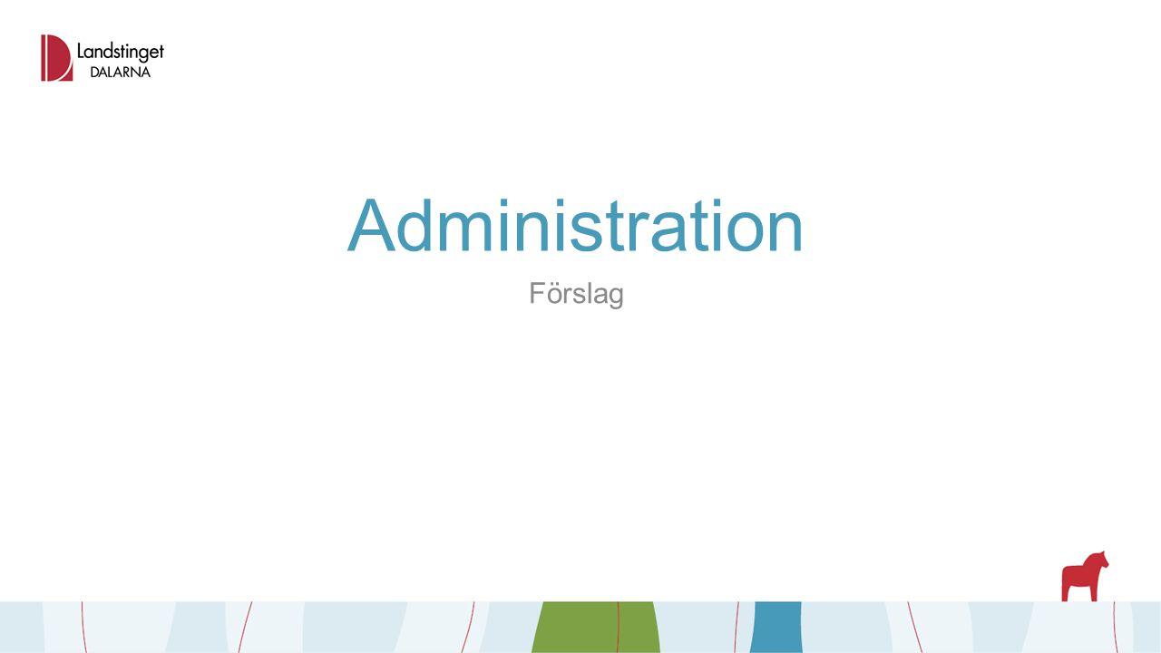 Administration Förslag