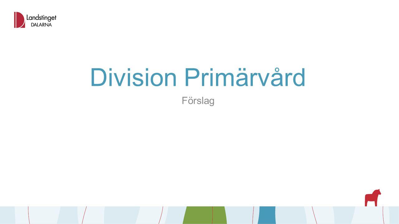 Division Primärvård Förslag
