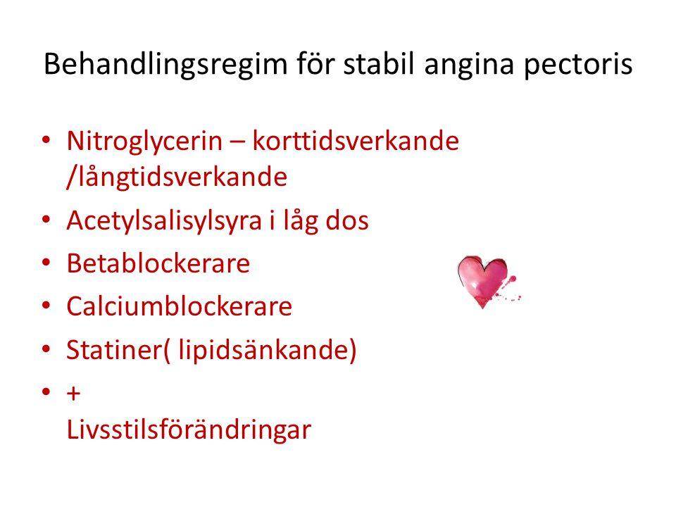 Behandlingsregim för stabil angina pectoris