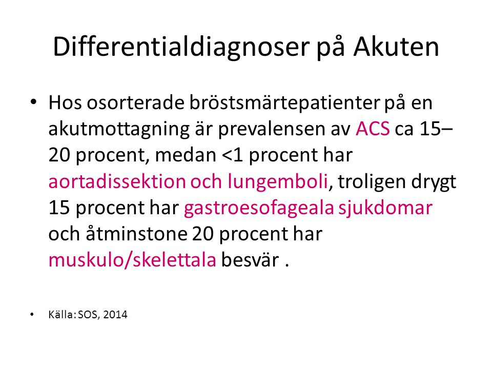 Differentialdiagnoser på Akuten
