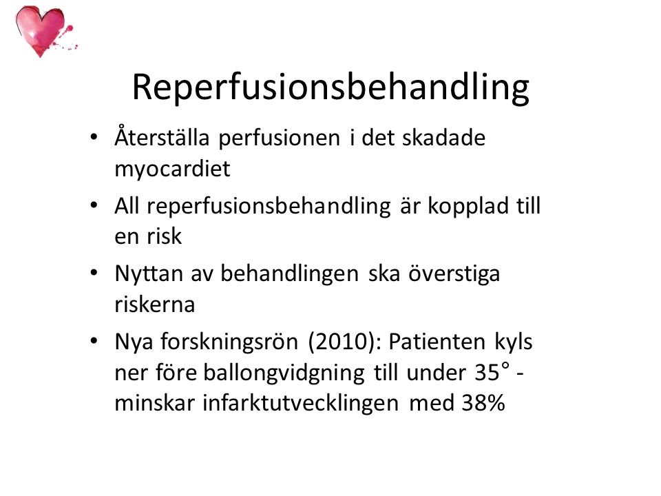 Reperfusionsbehandling