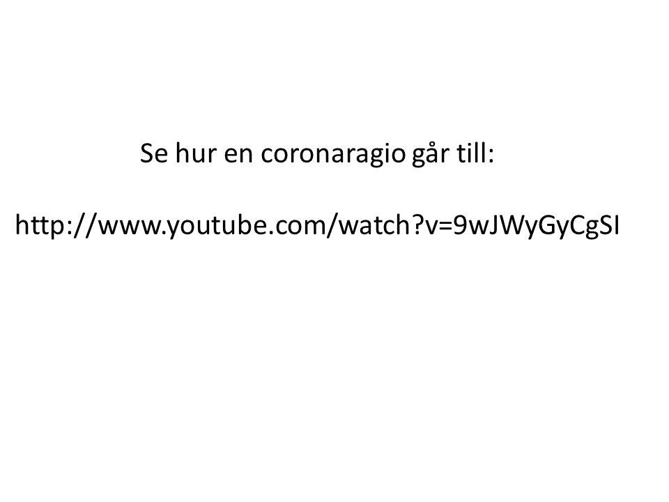 Se hur en coronaragio går till: http://www. youtube. com/watch