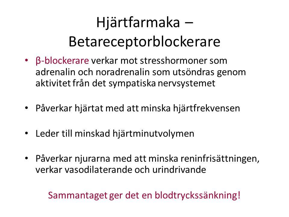 Hjärtfarmaka – Betareceptorblockerare