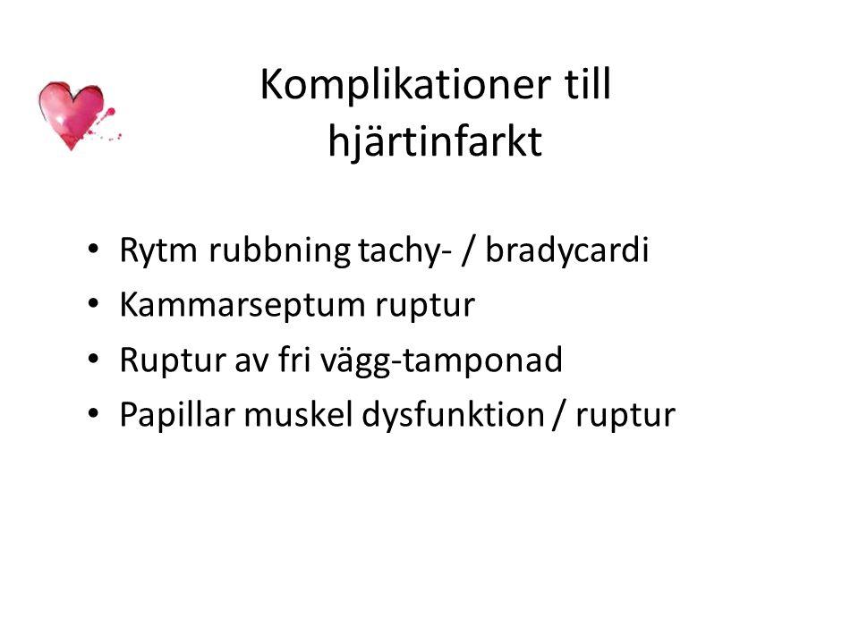 Komplikationer till hjärtinfarkt