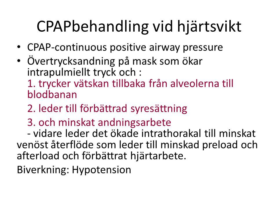 CPAPbehandling vid hjärtsvikt