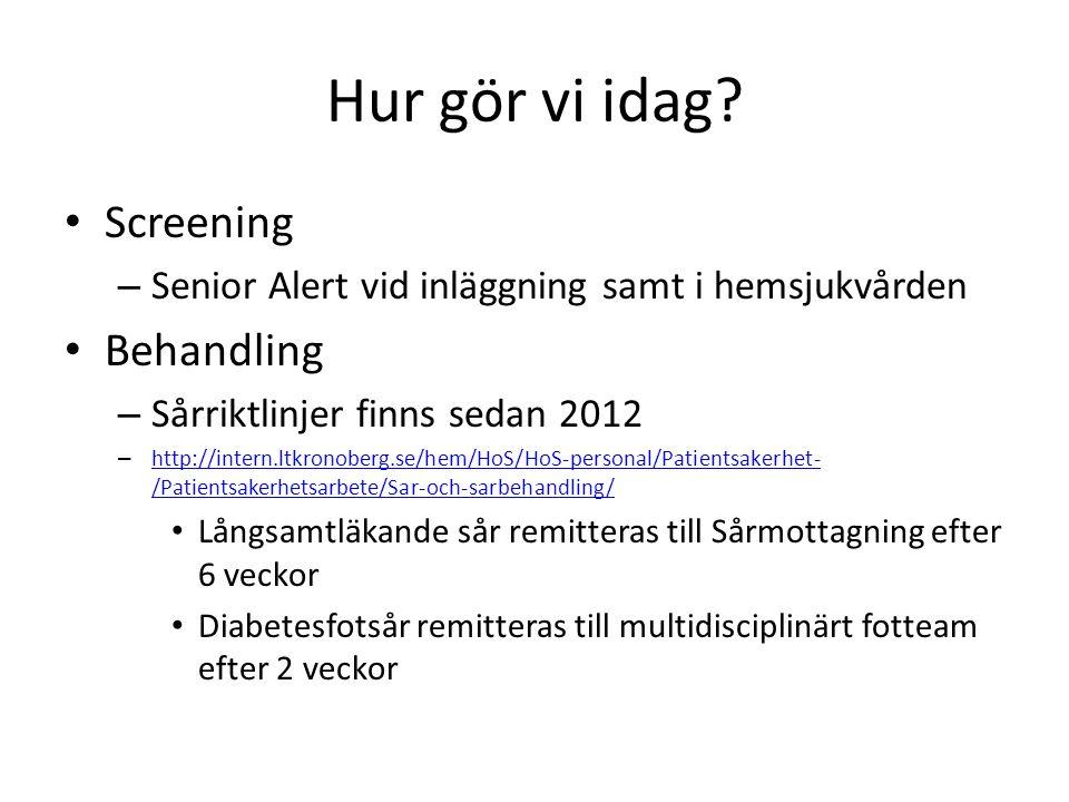 Hur gör vi idag Screening Behandling