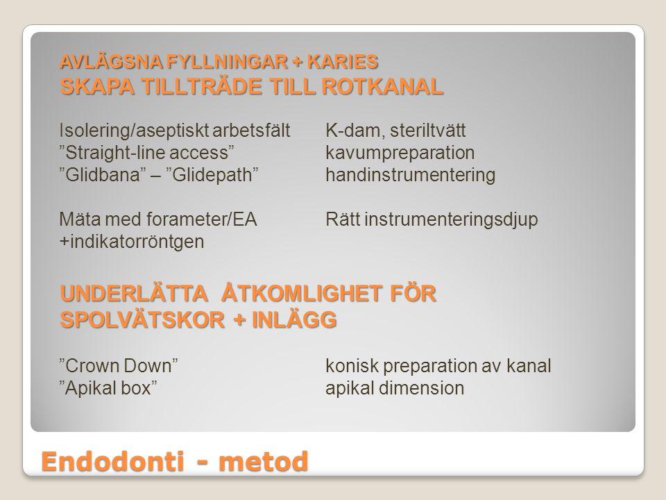 Endodonti - metod SKAPA TILLTRÄDE TILL ROTKANAL