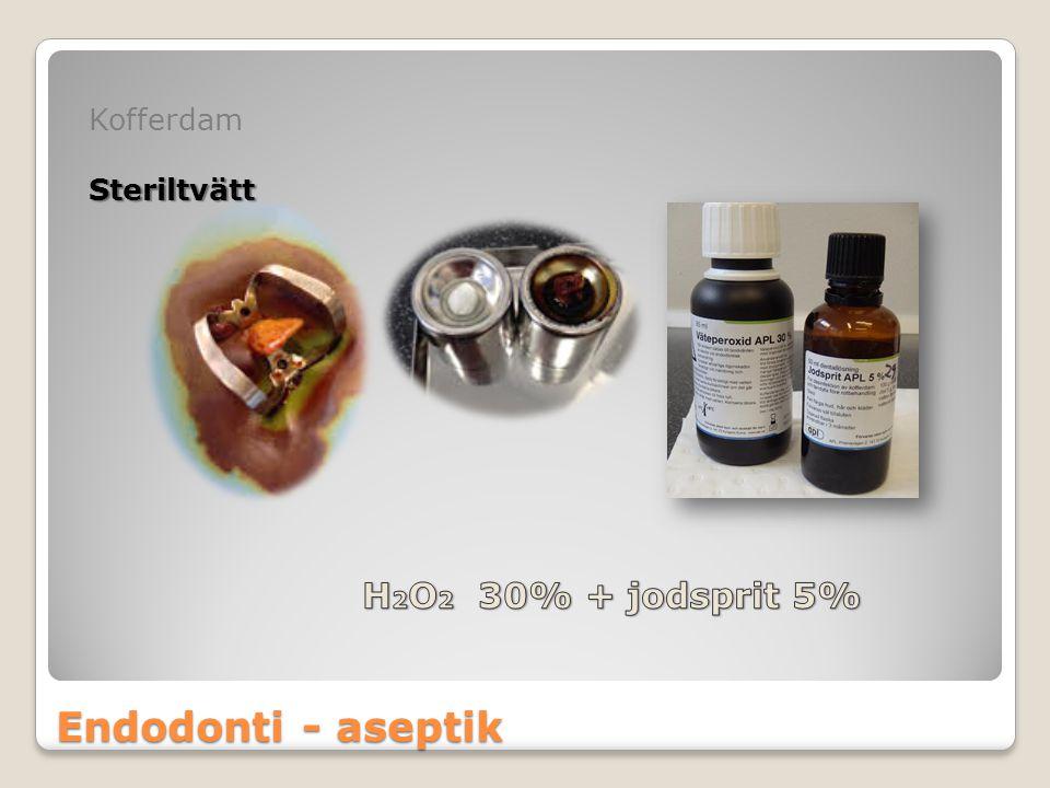 Kofferdam Steriltvätt H2O2 30% + jodsprit 5% Endodonti - aseptik