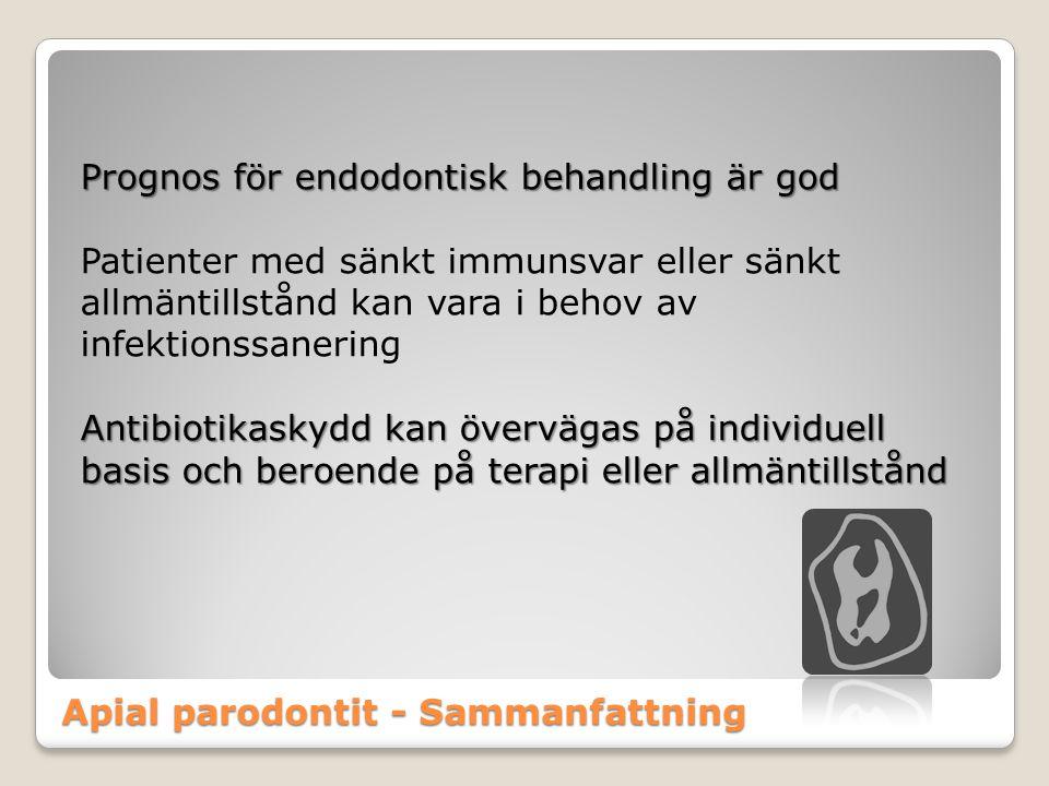 Apial parodontit - Sammanfattning
