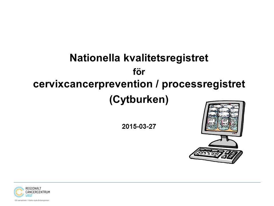 Nationella kvalitetsregistret (Cytburken)