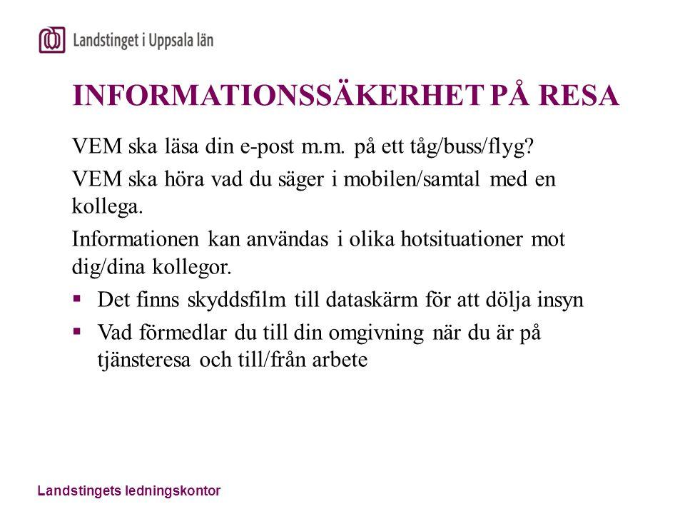 INFORMATIONSSÄKERHET PÅ RESA