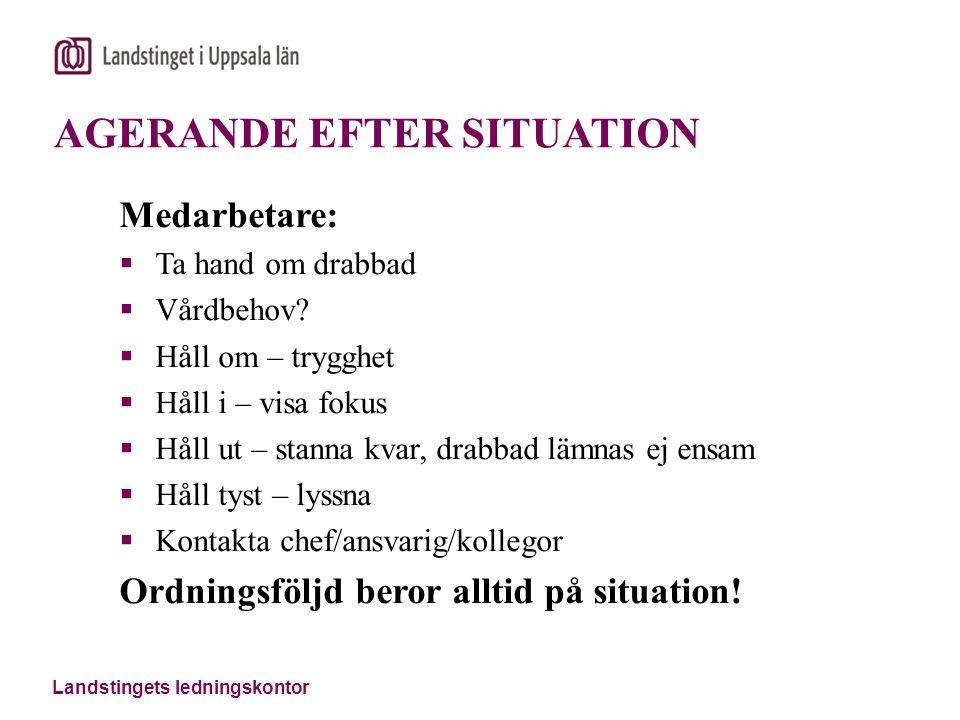 AGERANDE EFTER SITUATION