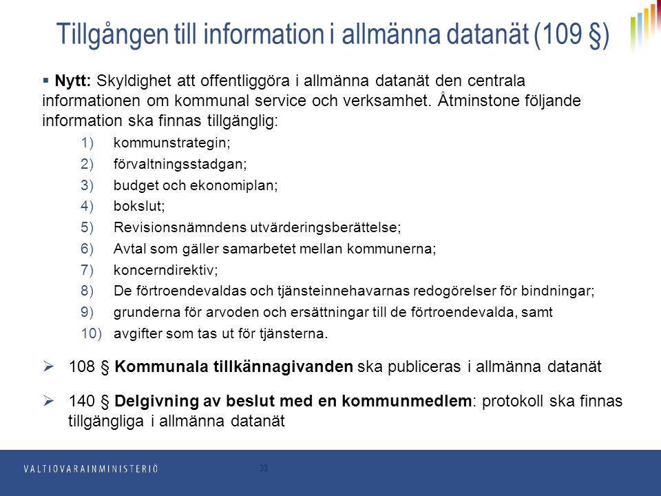 Tillgången till information i allmänna datanät (109 §)