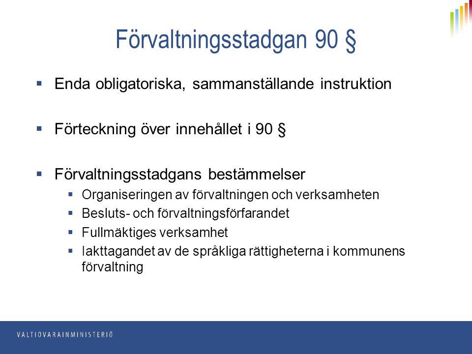 Förvaltningsstadgan 90 §