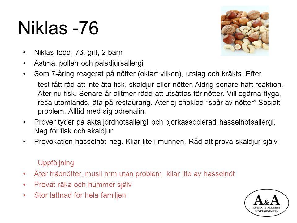 Niklas -76 Niklas född -76, gift, 2 barn