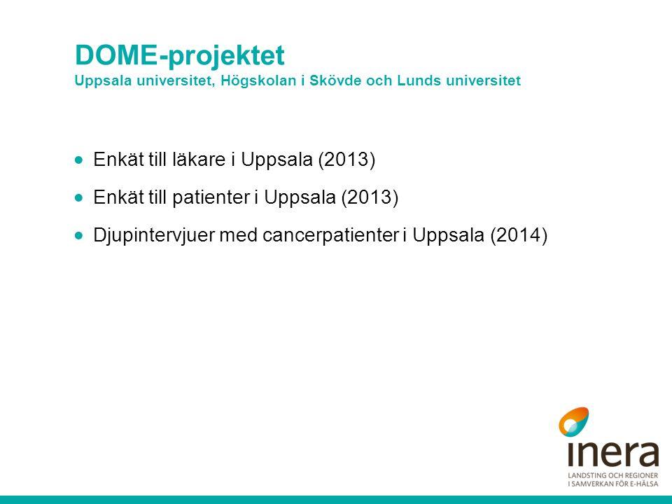 DOME-projektet Uppsala universitet, Högskolan i Skövde och Lunds universitet