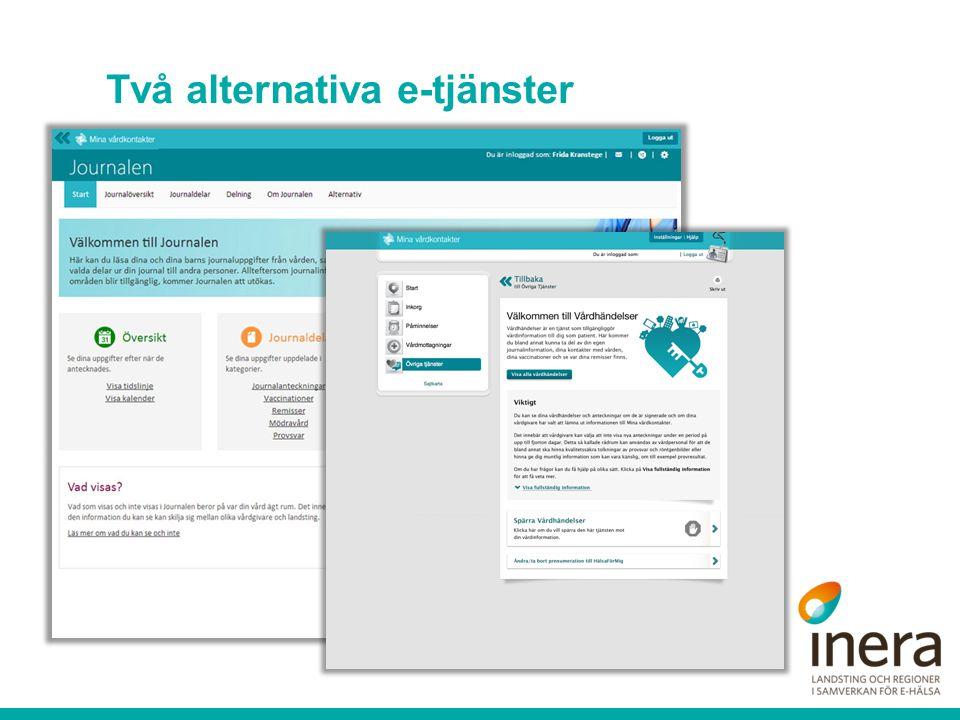 Två alternativa e-tjänster