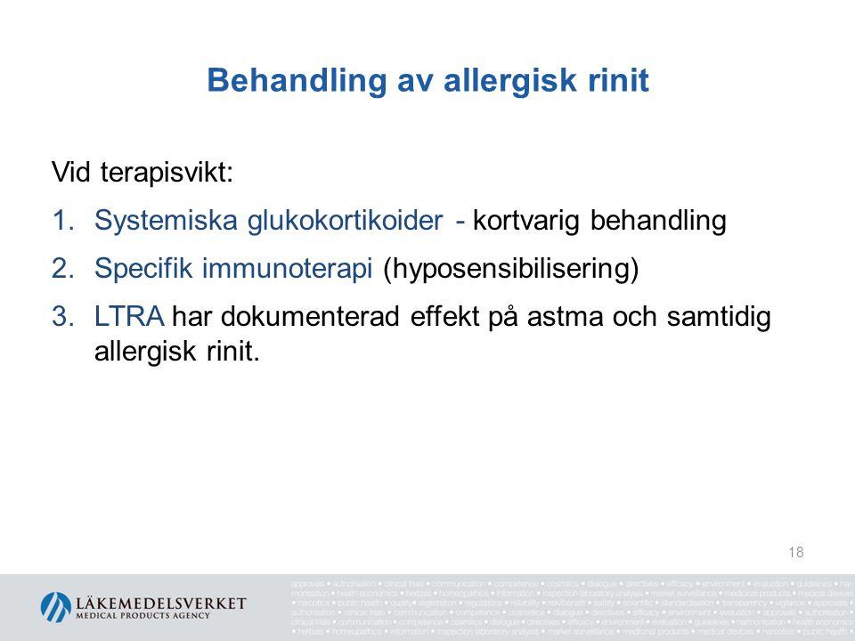 Behandling av allergisk rinit