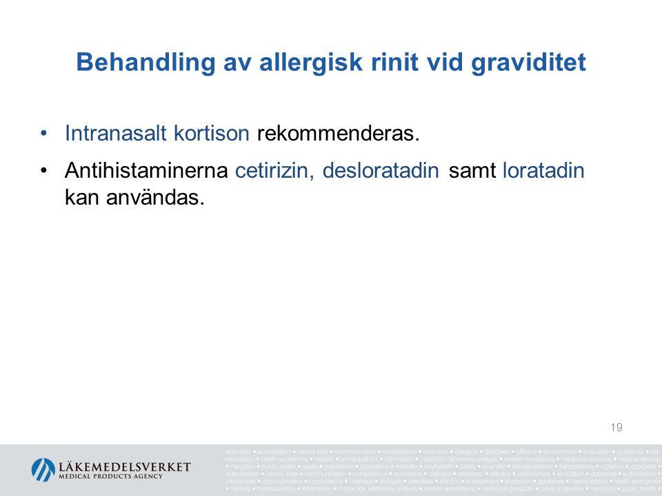 Behandling av allergisk rinit vid graviditet