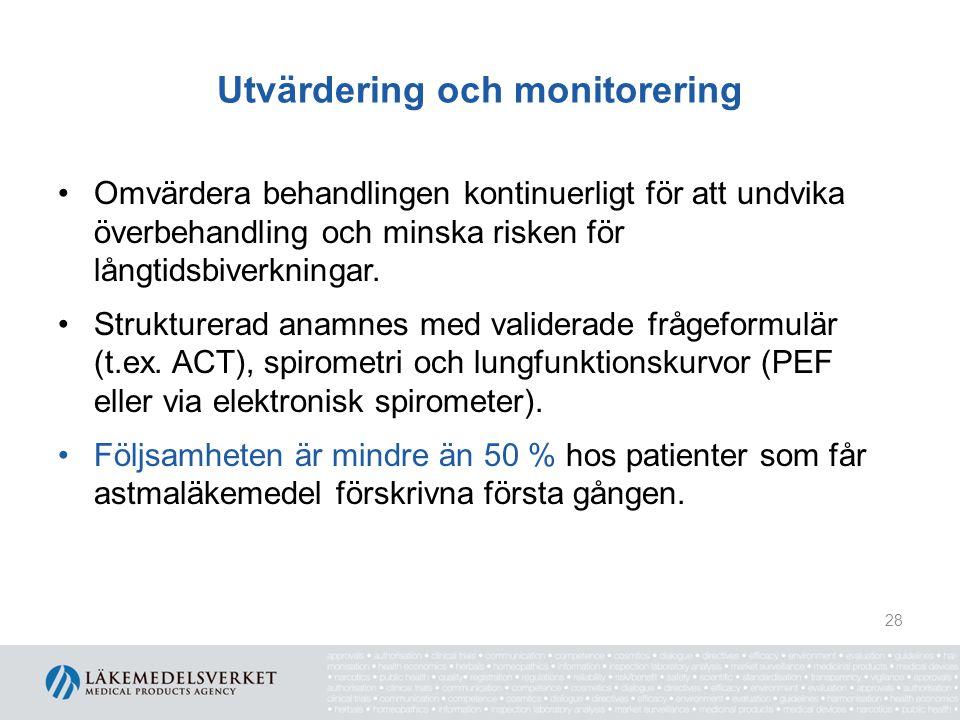 Utvärdering och monitorering