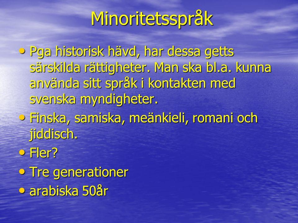 Minoritetsspråk