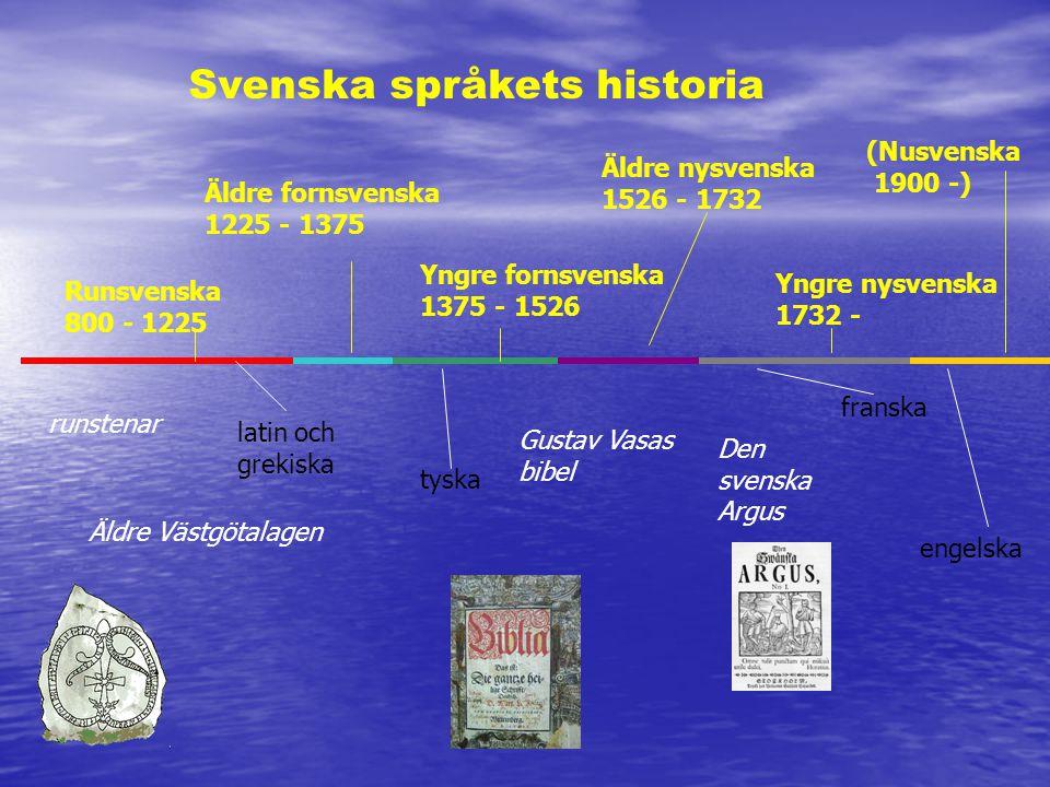 Svenska språkets historia