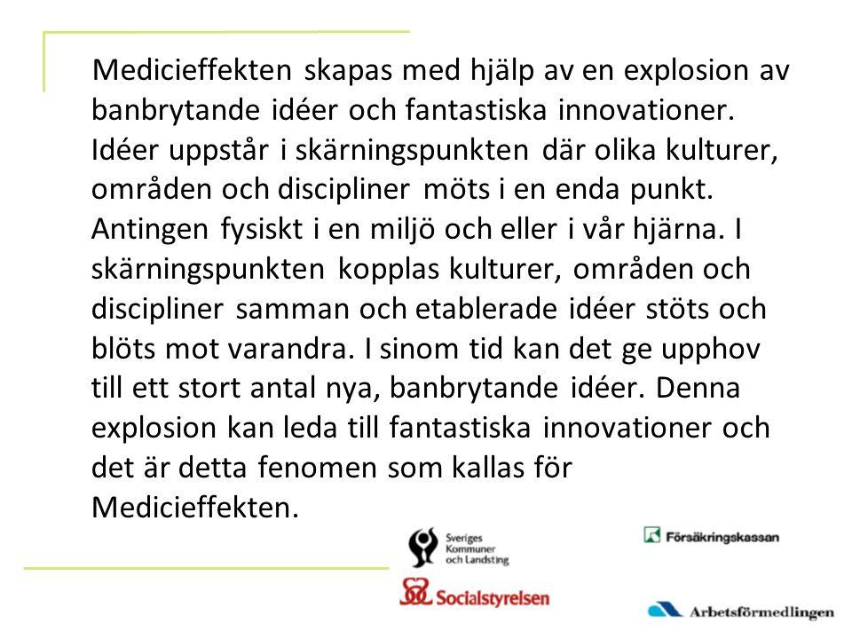 Medicieffekten skapas med hjälp av en explosion av banbrytande idéer och fantastiska innovationer.