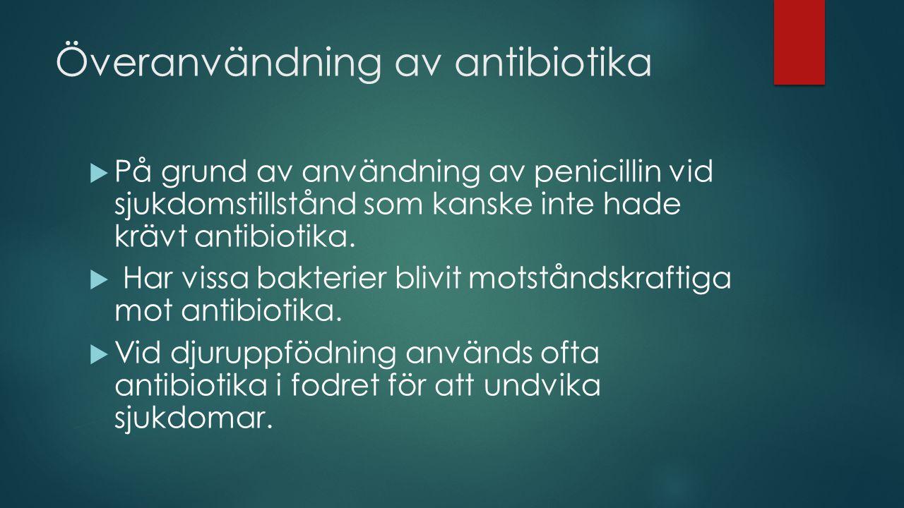 Överanvändning av antibiotika