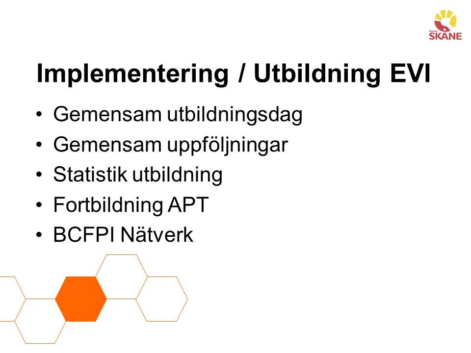 Implementering / Utbildning EVI