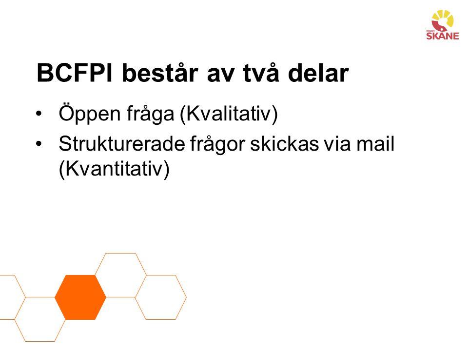 BCFPI består av två delar