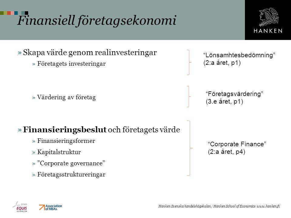 Finansiell företagsekonomi