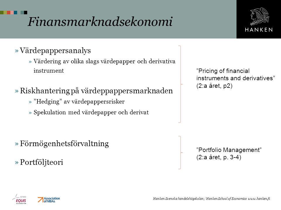 Finansmarknadsekonomi