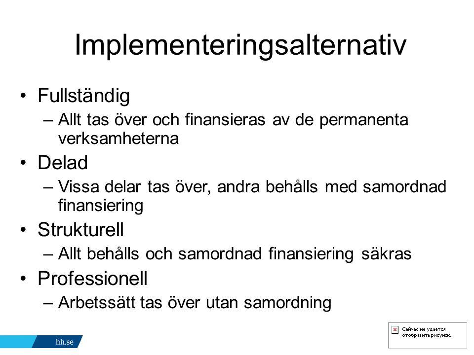 Implementeringsalternativ