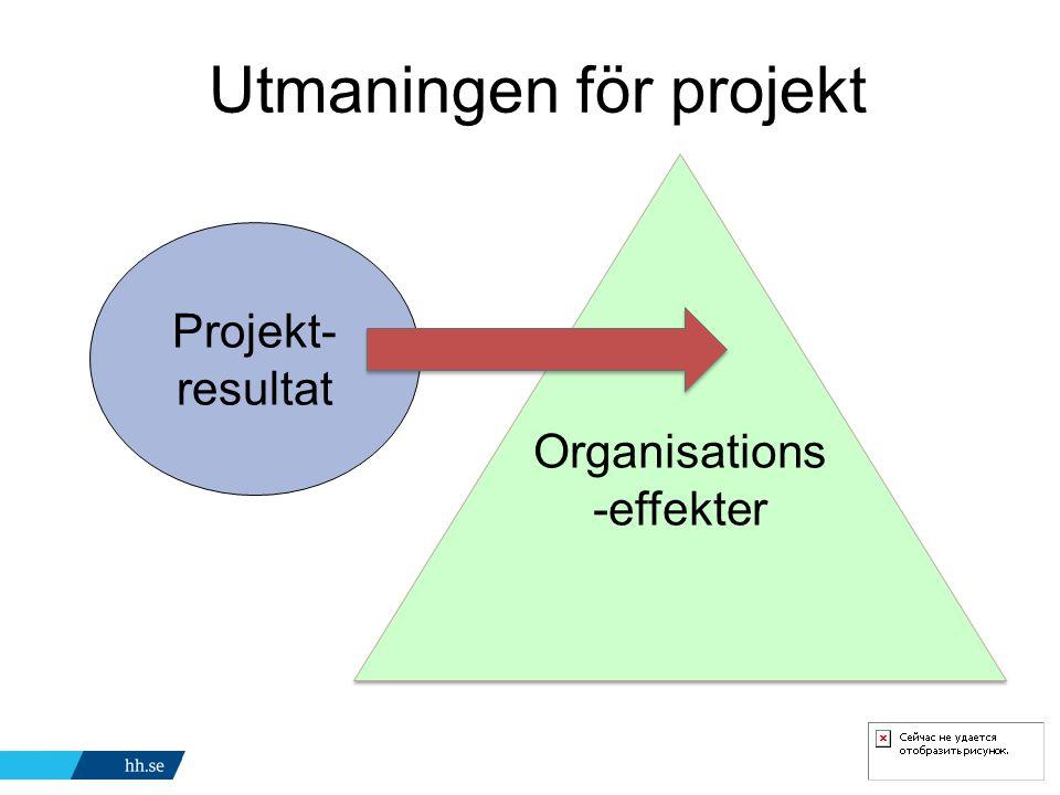 Utmaningen för projekt