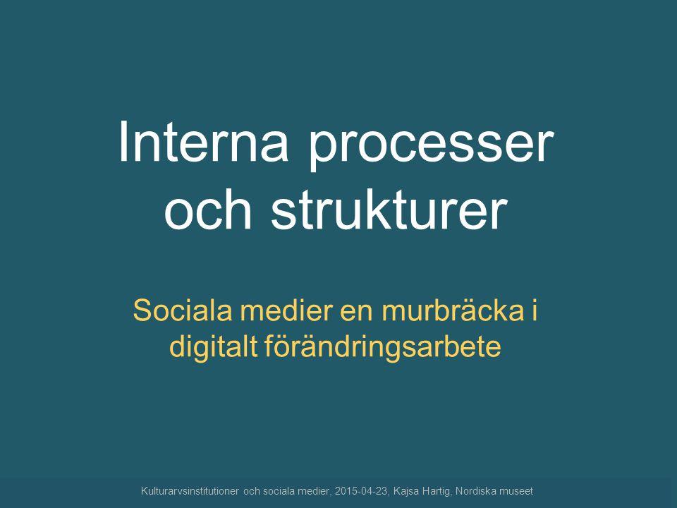 Interna processer och strukturer