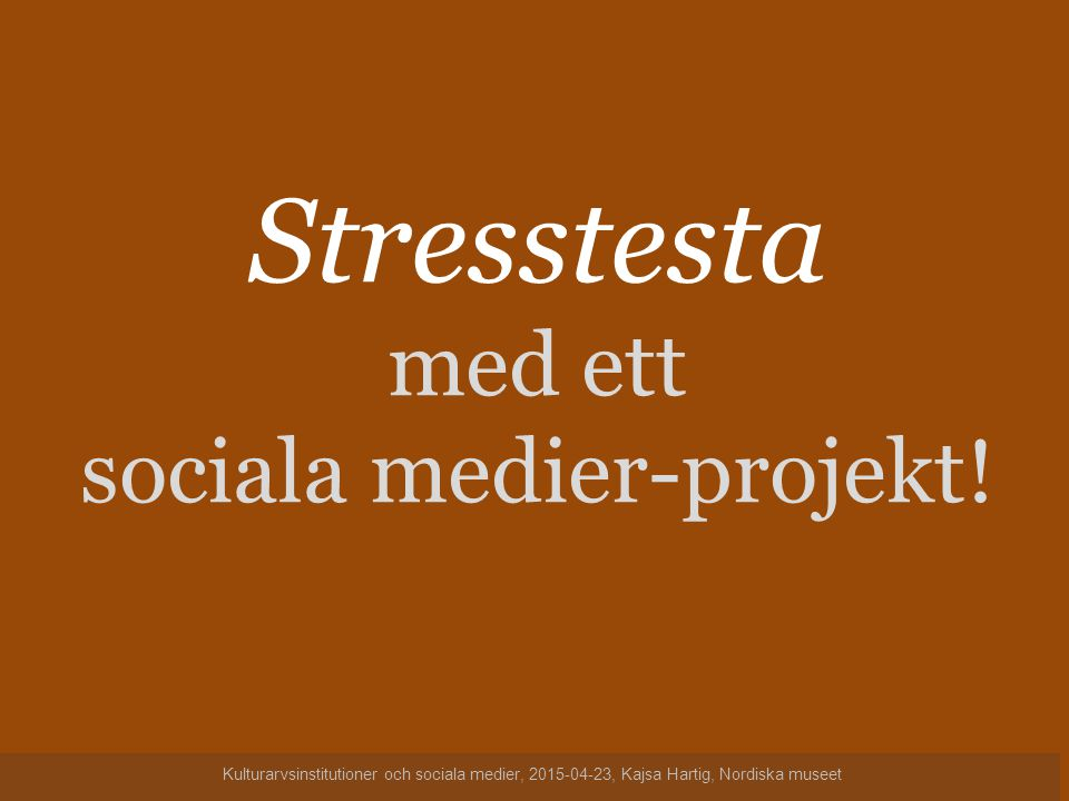 sociala medier-projekt!