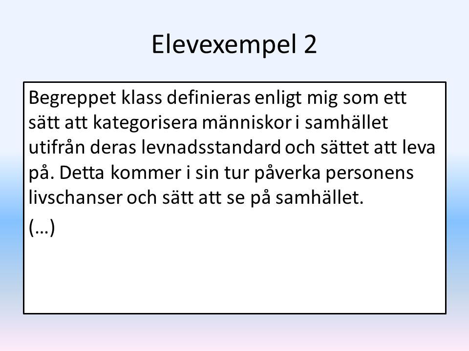 Elevexempel 2
