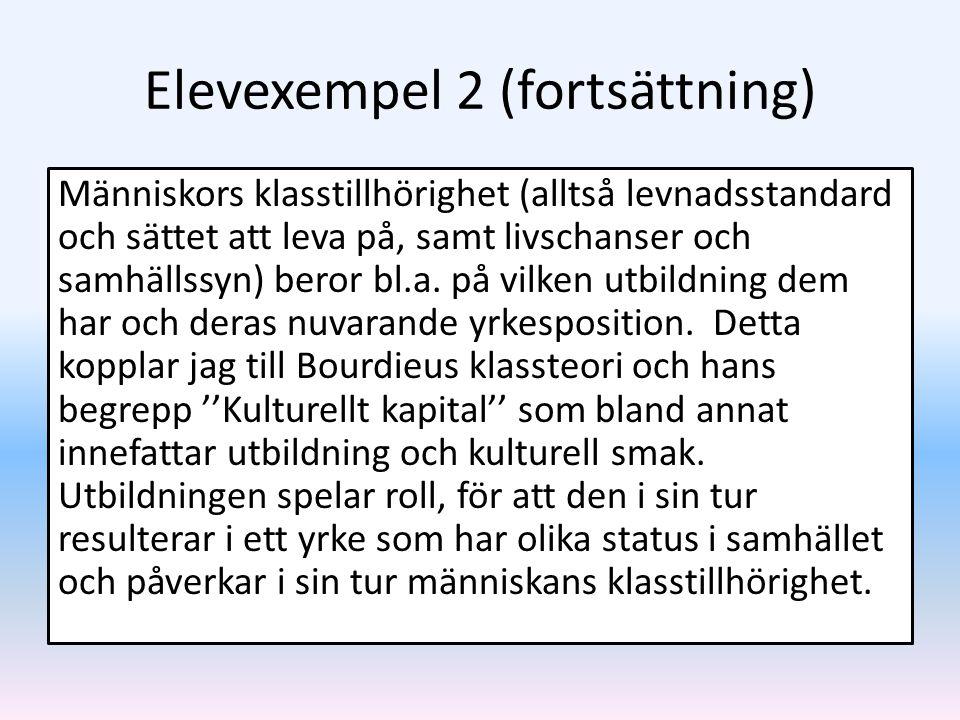 Elevexempel 2 (fortsättning)