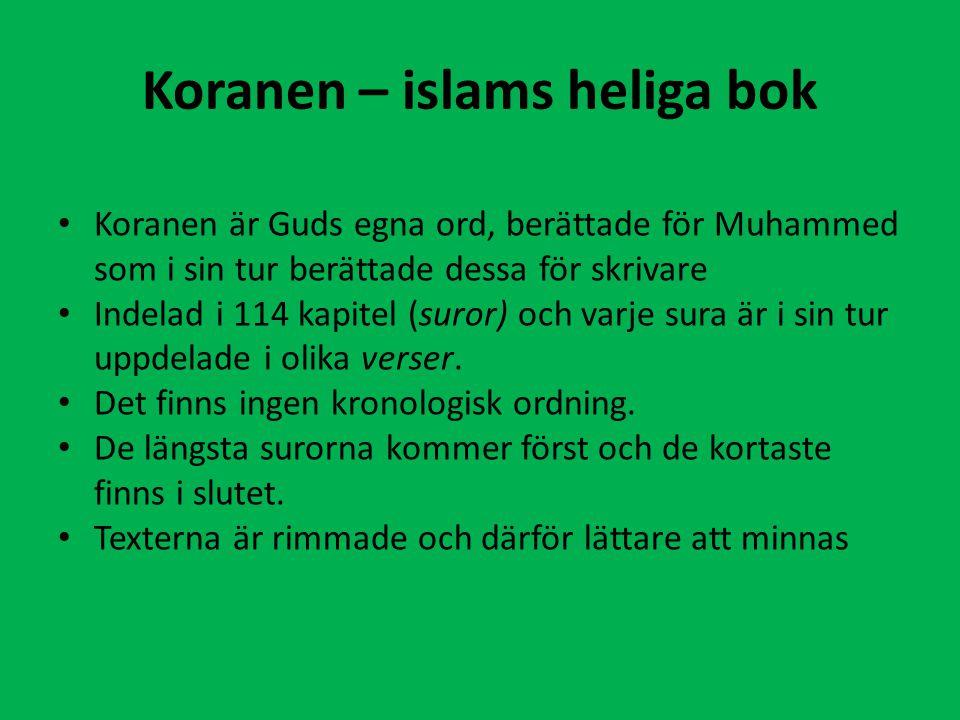 Koranen – islams heliga bok