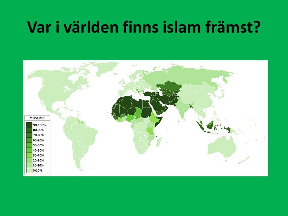 Var i världen finns islam främst