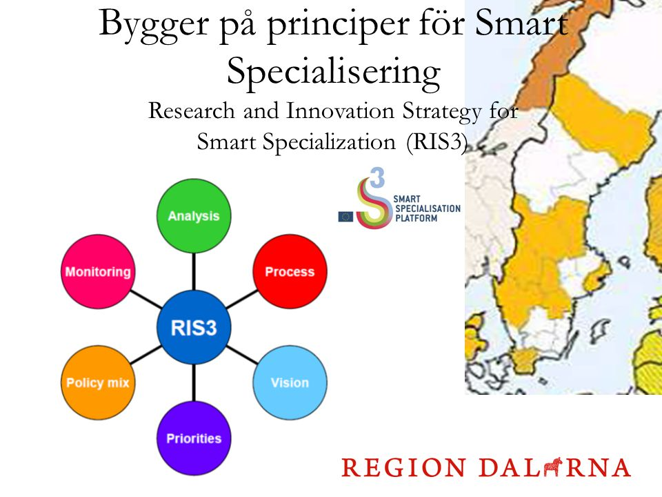 Bygger på principer för Smart Specialisering Research and Innovation Strategy for Smart Specialization (RIS3)