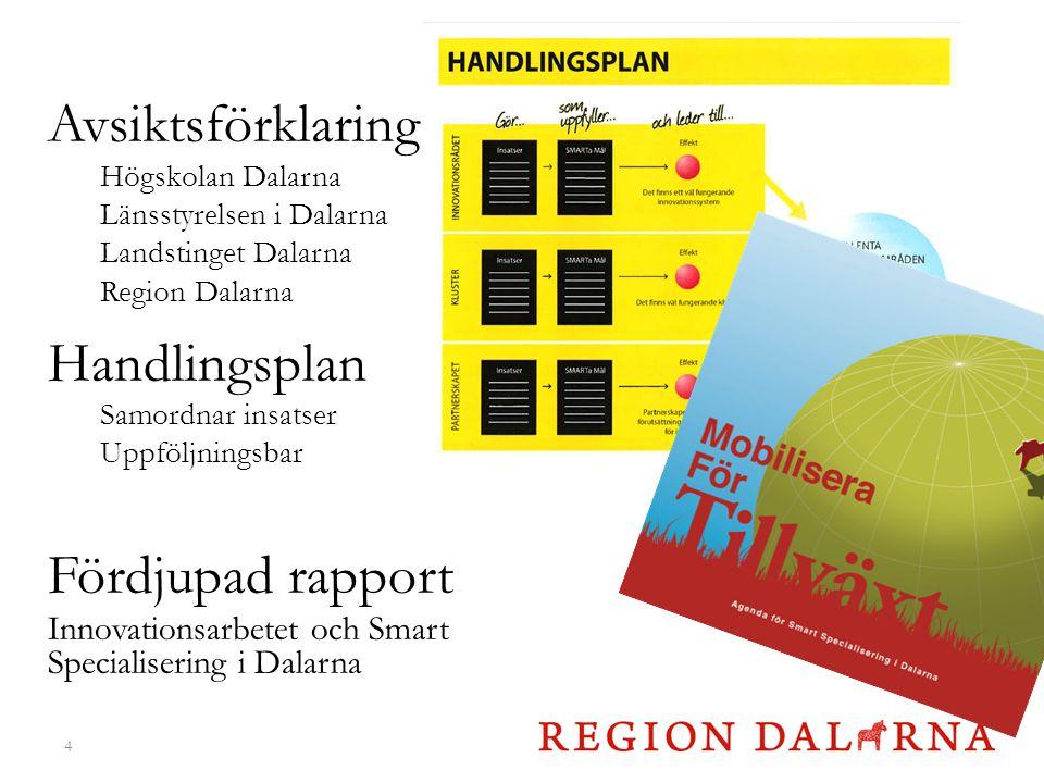 Avsiktsförklaring Handlingsplan Fördjupad rapport