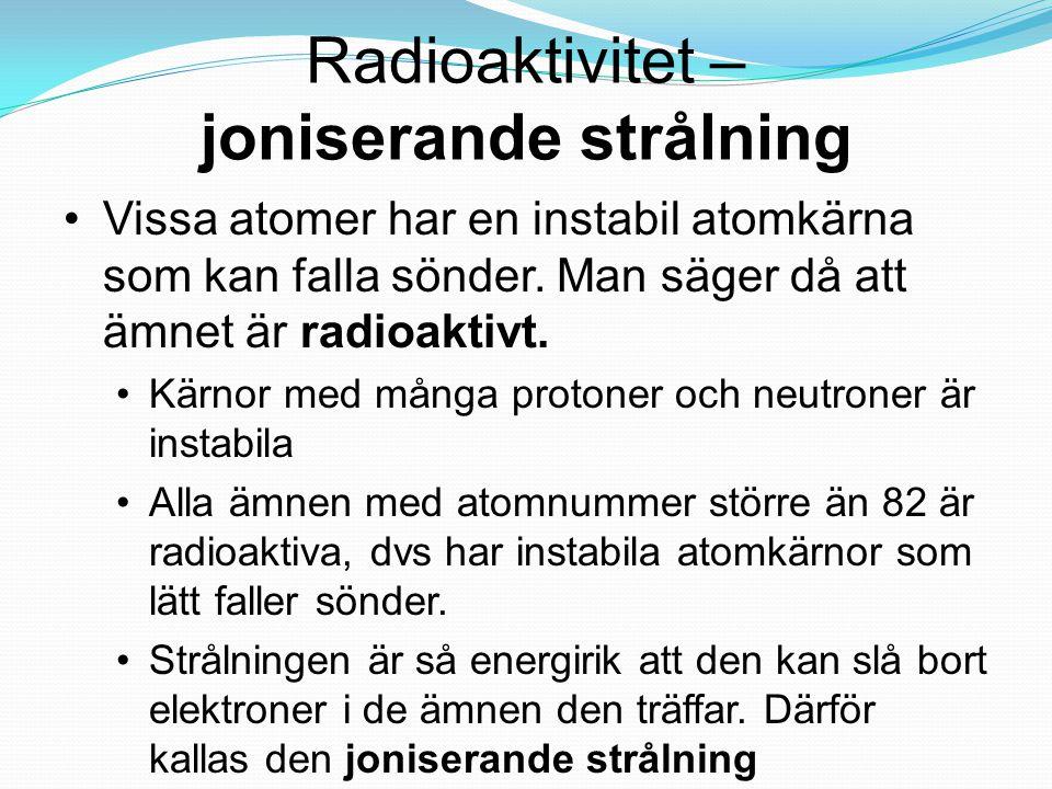 joniserande strålning