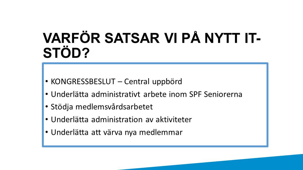 VARFÖR SATSAR VI PÅ NYTT IT-STÖD