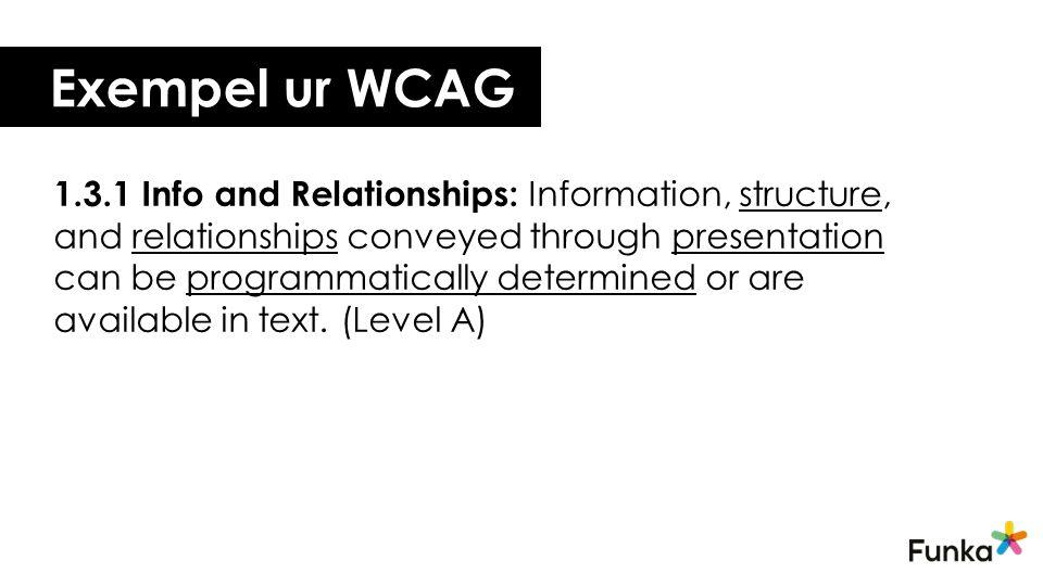Exempel ur WCAG